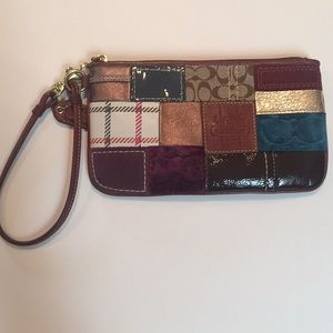 Patterned COACH wristlet